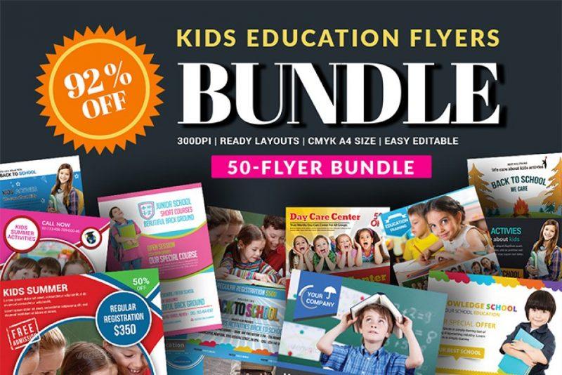 50 School Flyers Bundle