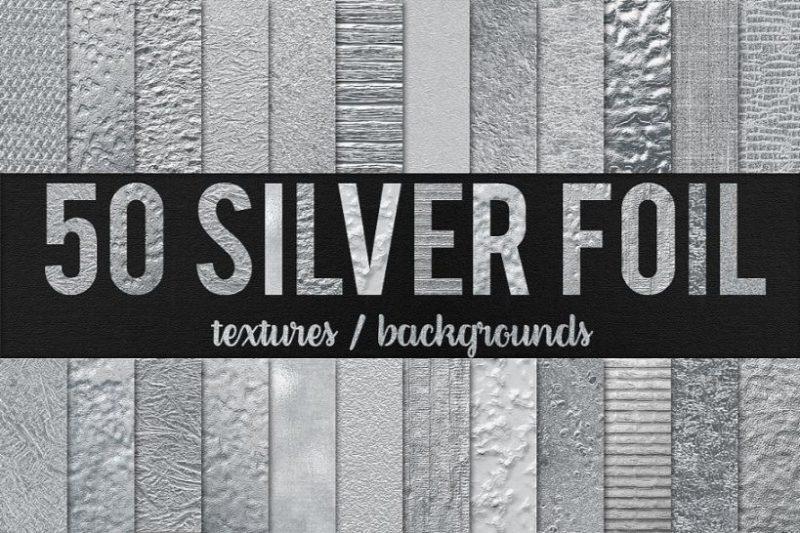 50 Silver Foil Backgrounds