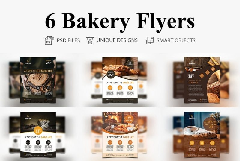 6 Bakery Flyers