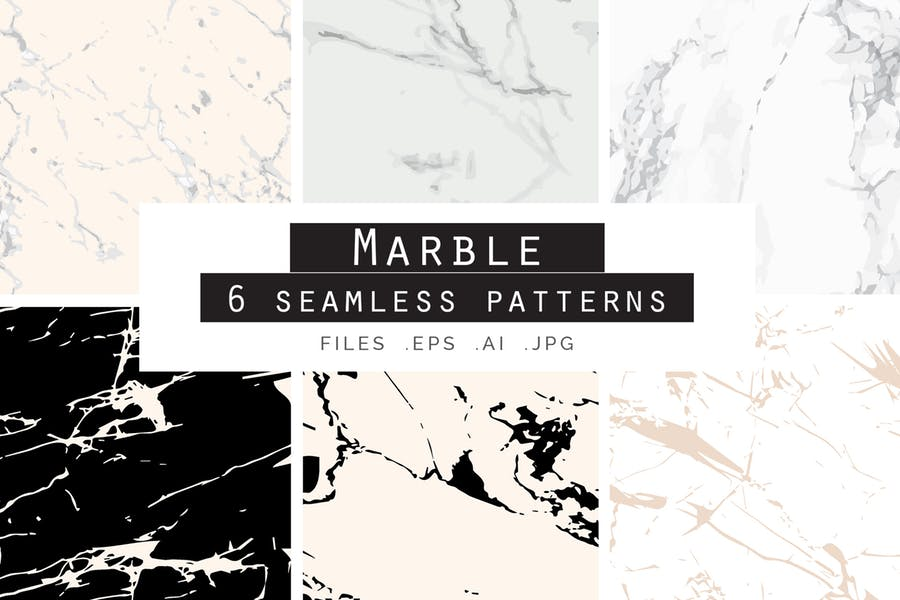 6 Seamless Marble Textures Pack