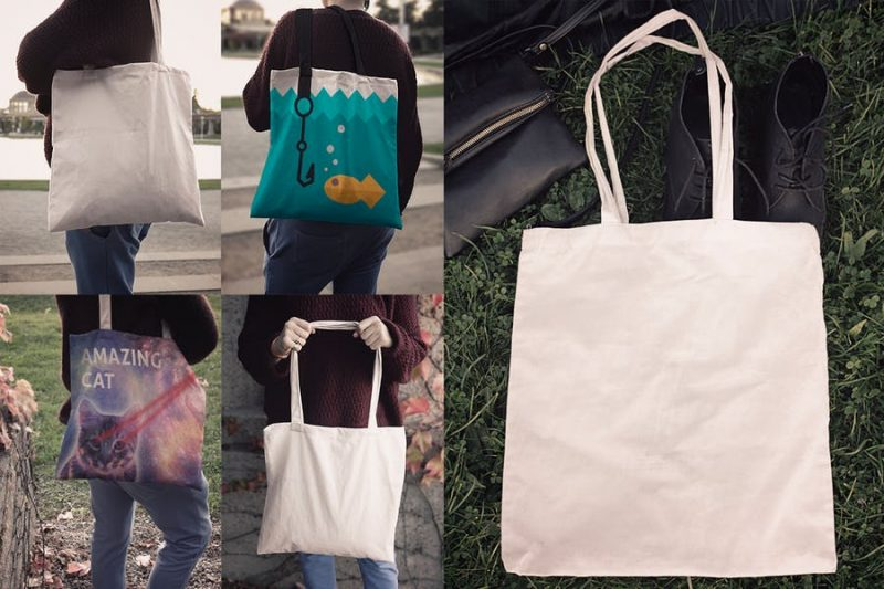 7 Editable Bag Mockups