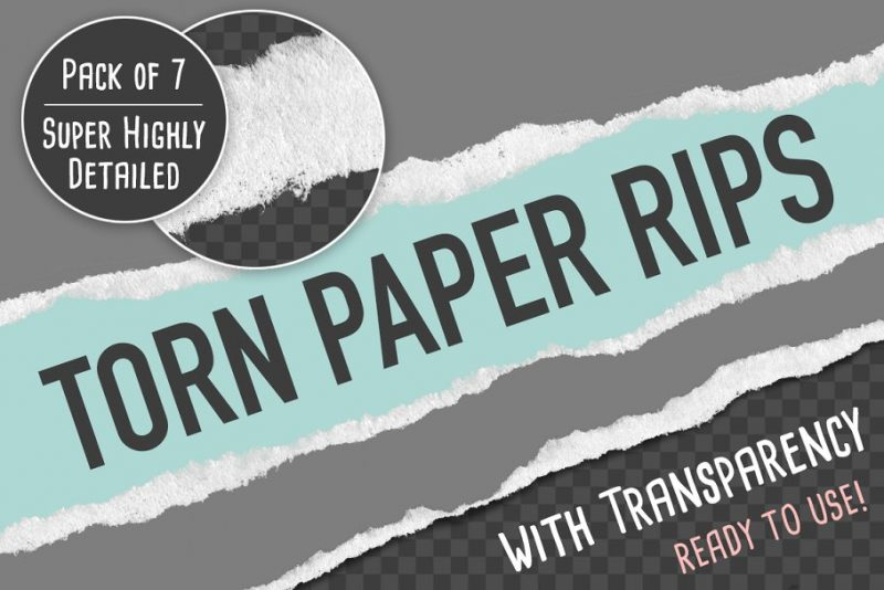 7 Torn Paper Rips Textures
