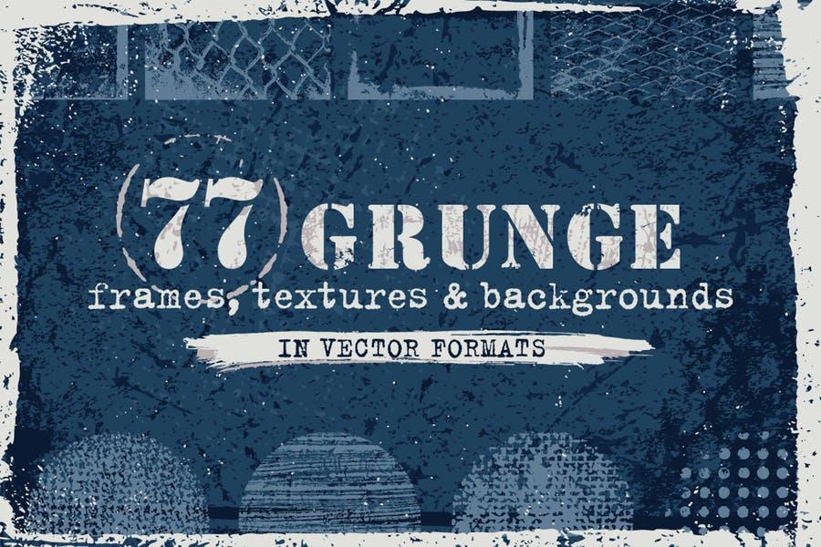 77 Grunge Vectors Set