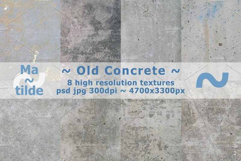 8 Old Concrete Textures