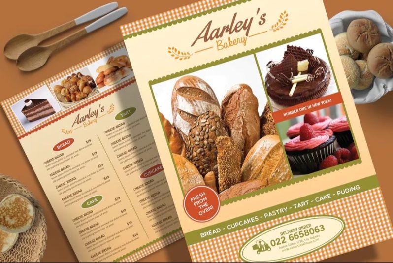 A4 Bakery Flyer Design