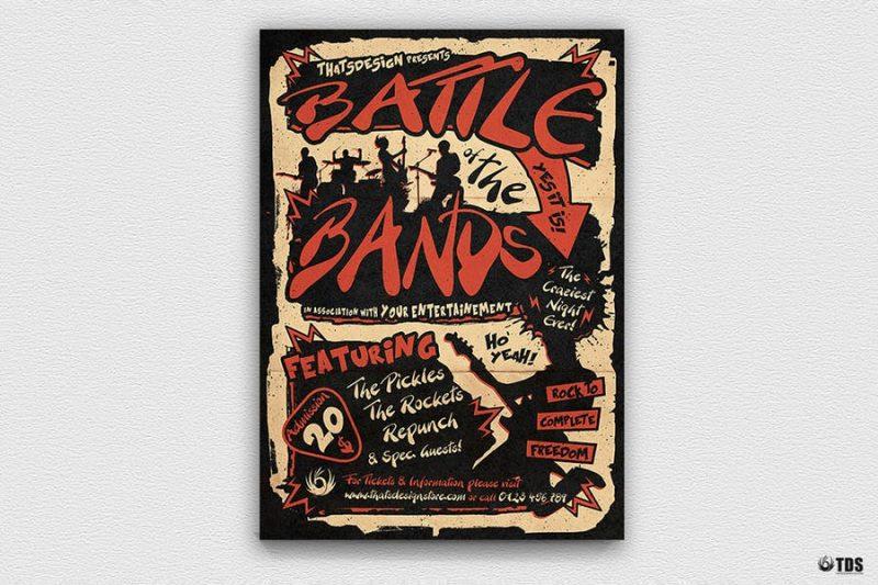 A4 Battle of Bands Flyer