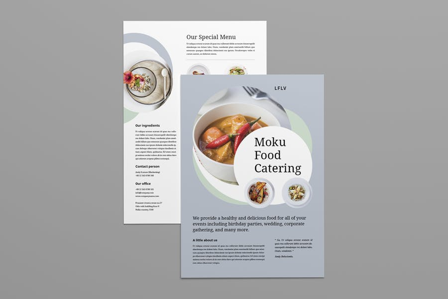 A4 Catering Flyer Template