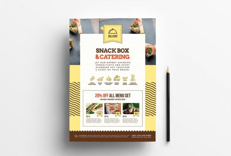 A4 Catering Flyers PSD