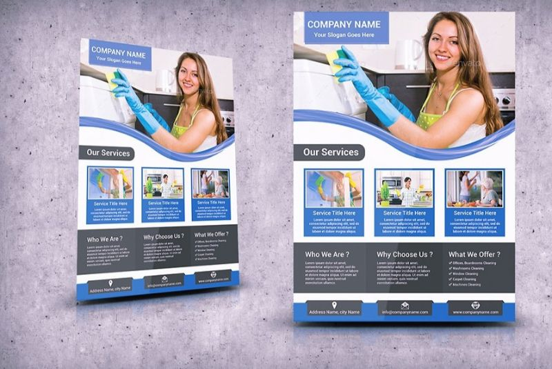 A4 Cleaning Services Flyer