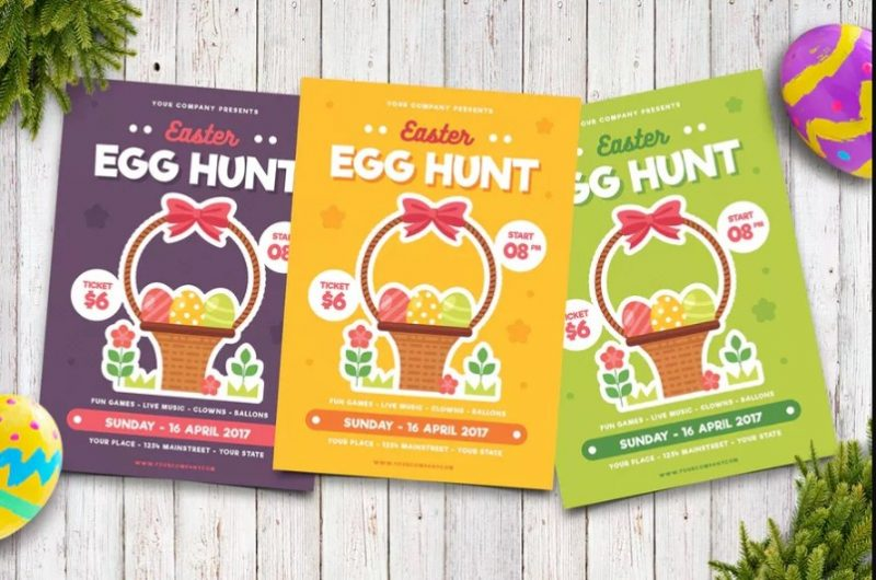 A4 Easter Invite Cards