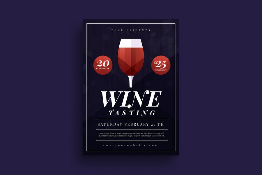 A4 Wine Tasting Flyer