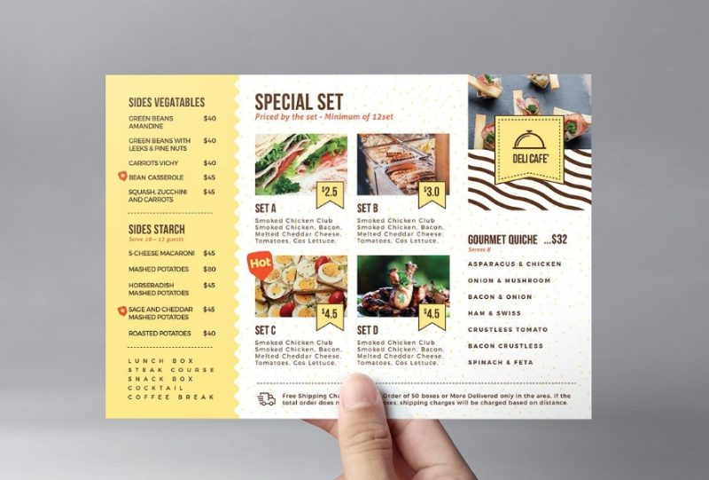 A5 Catering Flyer Templates
