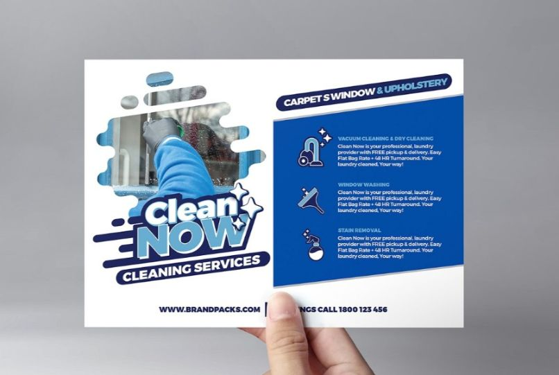 A5 Cleaning Services Flyer Template