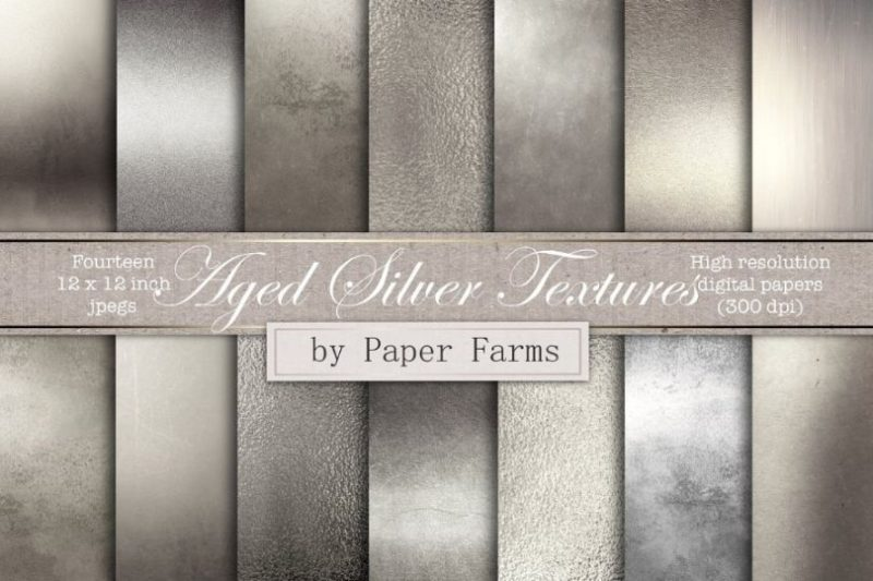 Aged Silver textures wallpapers