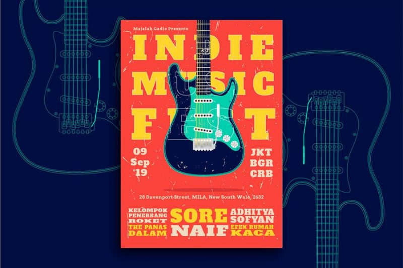 Ai Indie Band Flyer