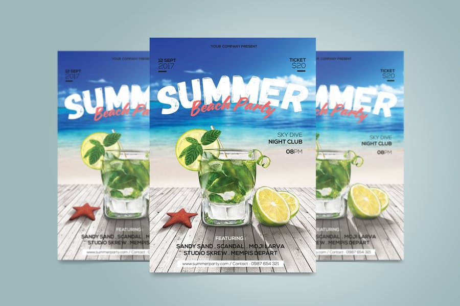 Ai and PSD Summer Beach Flyer