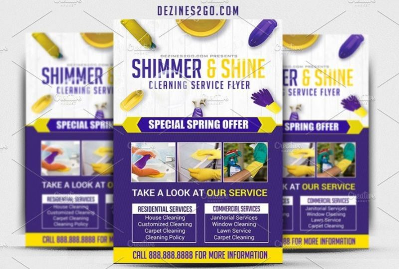 Amazing Cleaning Flyer Template