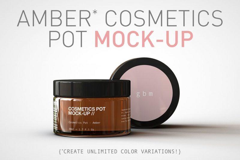 Amber Pot Mockup PSD