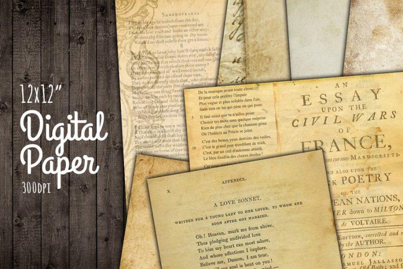 Antique Digital Paper Textures