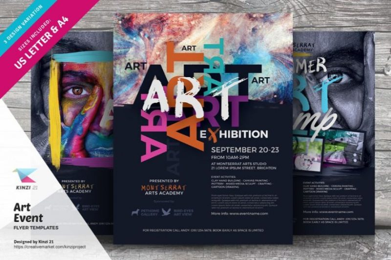 Art Event Flyers PSD Template