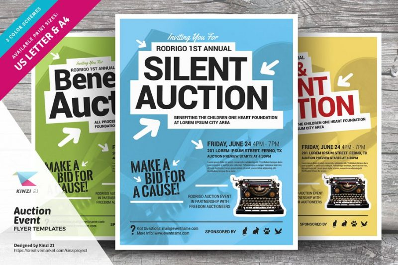 Auction Flyers Template PSD