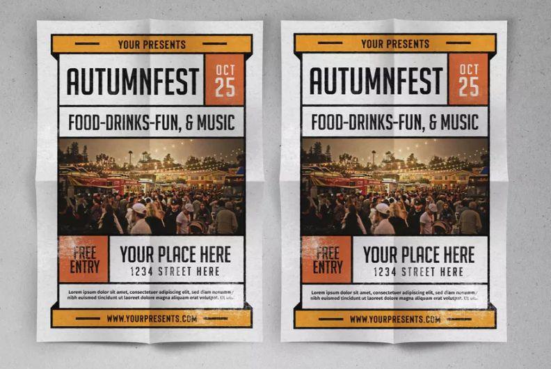 Autumnfest Flyer Template PSD