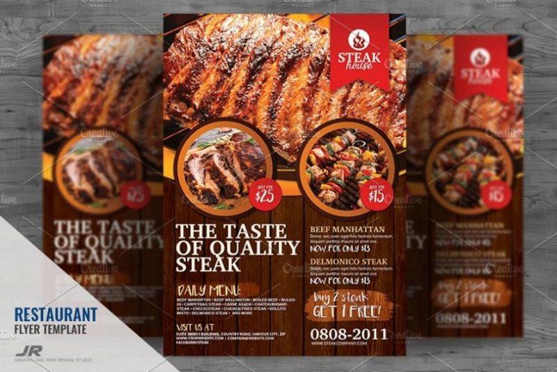 BBQ Restaurant Flyer Templates