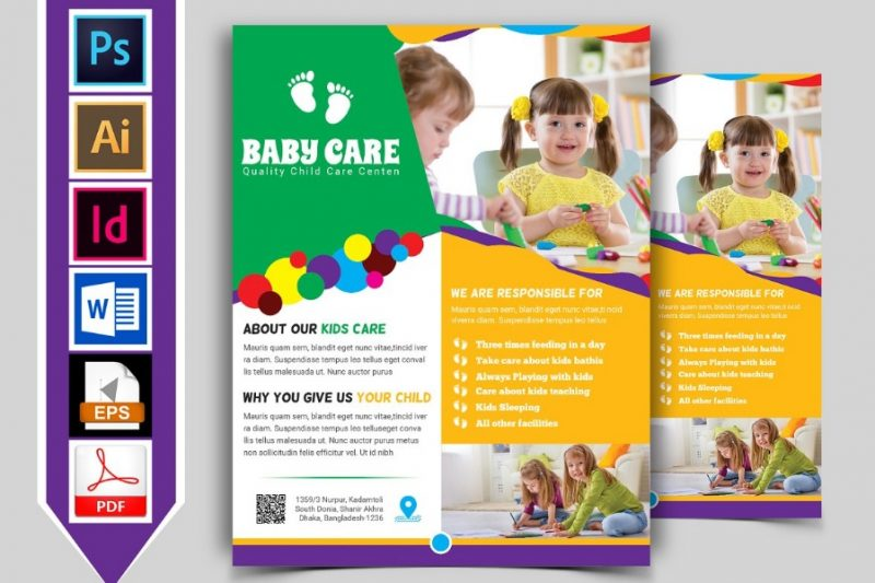 Baby Care Flyer Templates