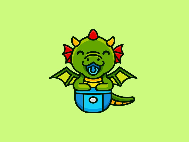 Baby Dragon Branding Idea