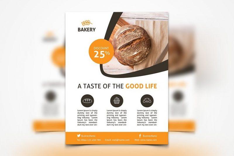 Bakery Promotional Flyer PSD