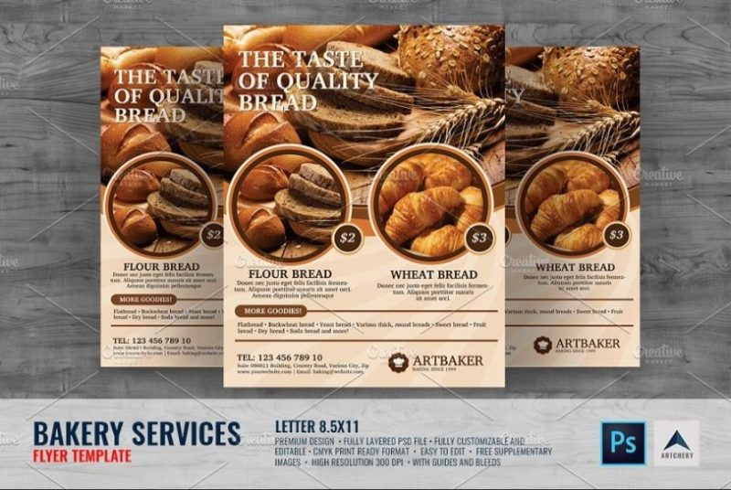 Baking Store Flyer Template