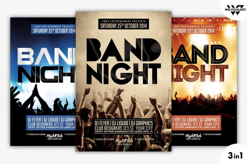 Band Night Flyers PSD