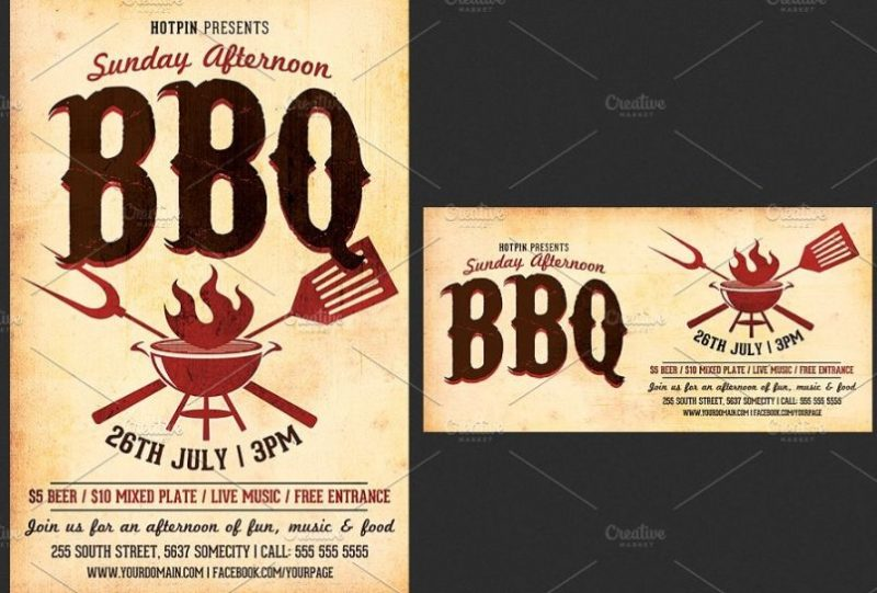 Barbecue Flyer Templates PSD