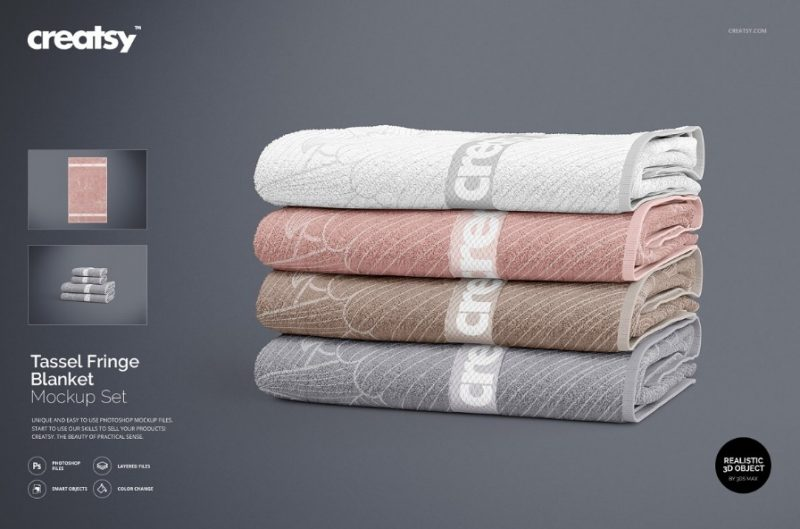 Bath Towel Mockup Set