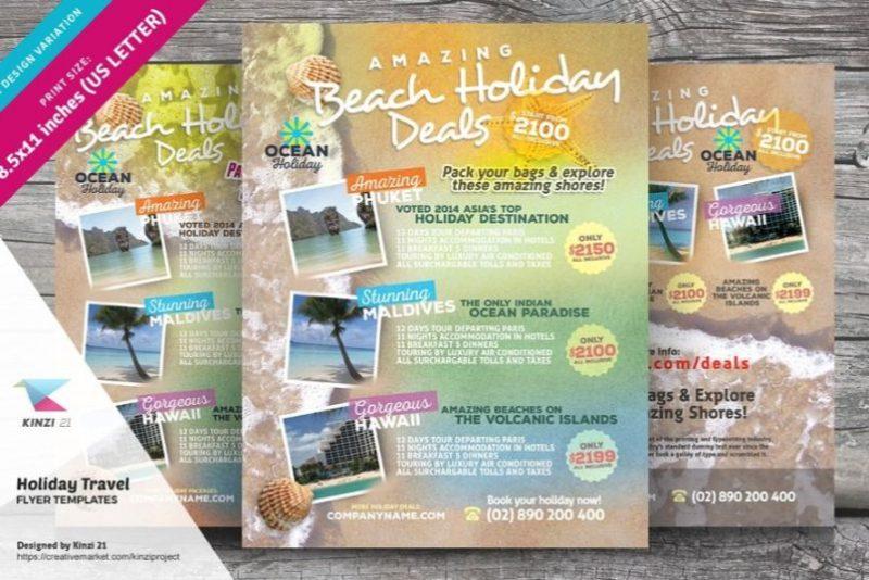 Beach Holiday Flyer Template