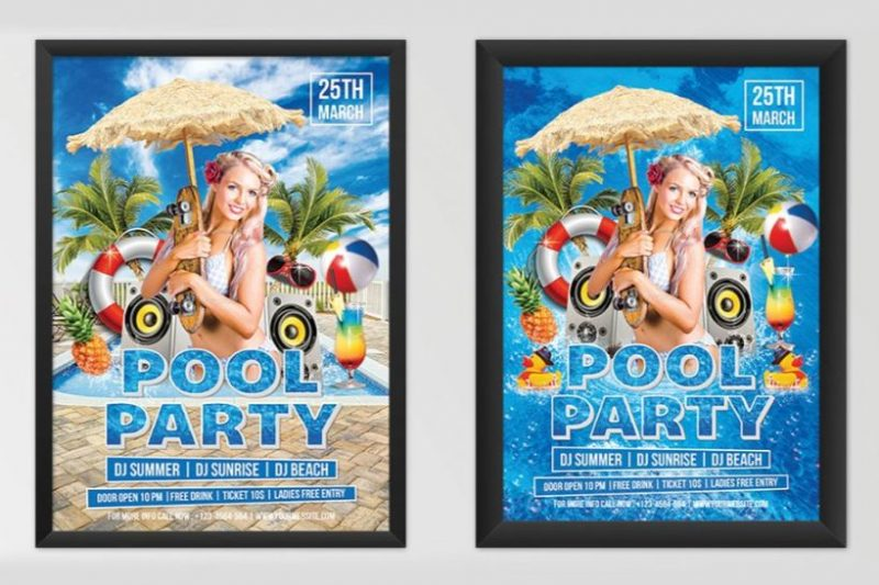 Best Pool Party Flyer PSD