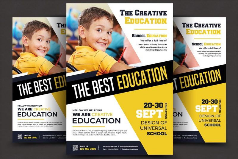 Best School Flyer PSD