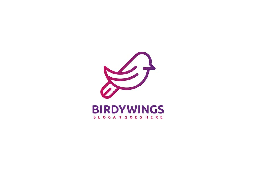 Birdy Wings Logo Sample