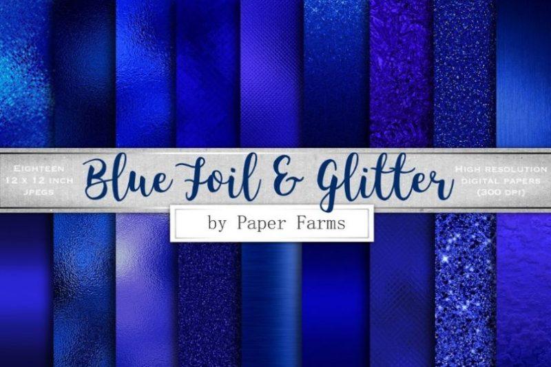 Blue Glitter Textures
