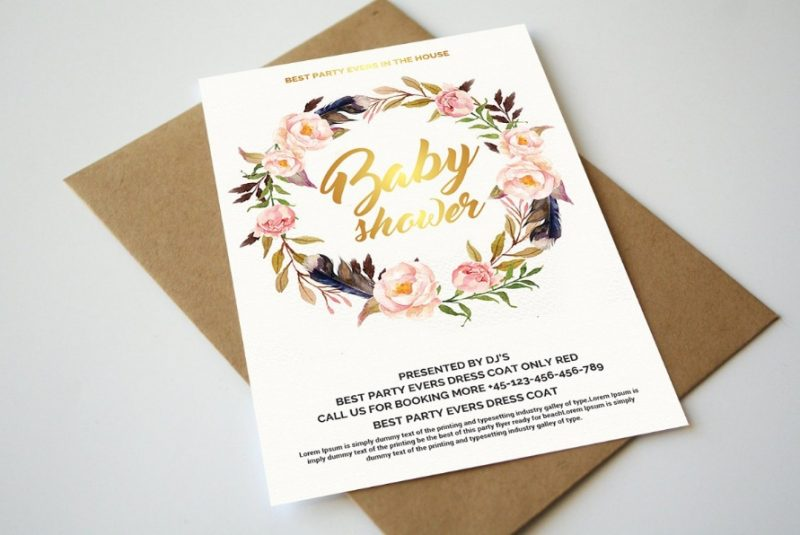 Boho Baby Shower Flyer Template