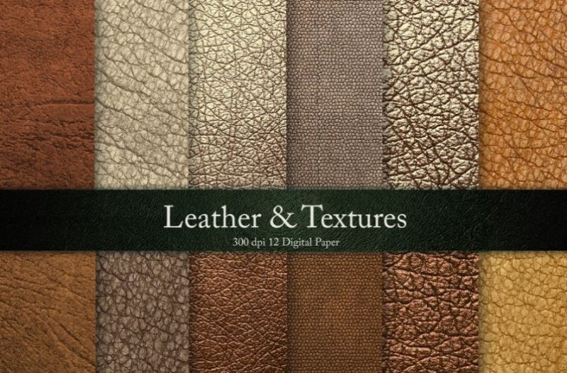 Bronze Leather Texture Background