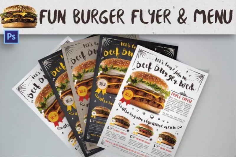 Burger Cafe Promotion Flyers
