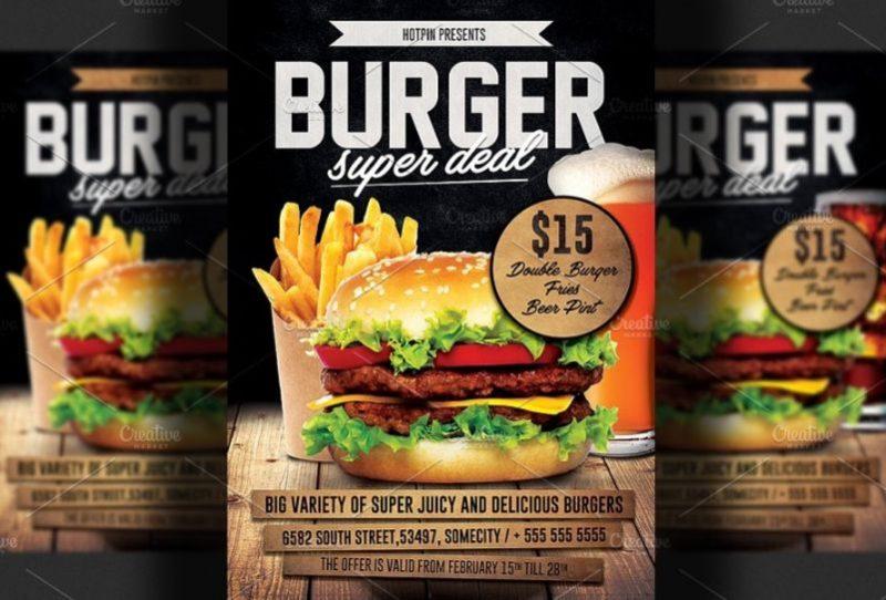 Burger Deal Flyer Templates