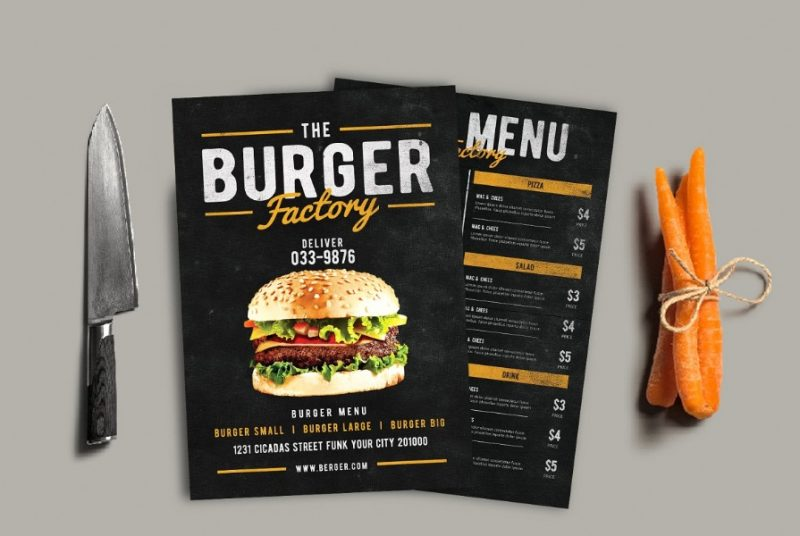 Burger Factory Flyer Templates