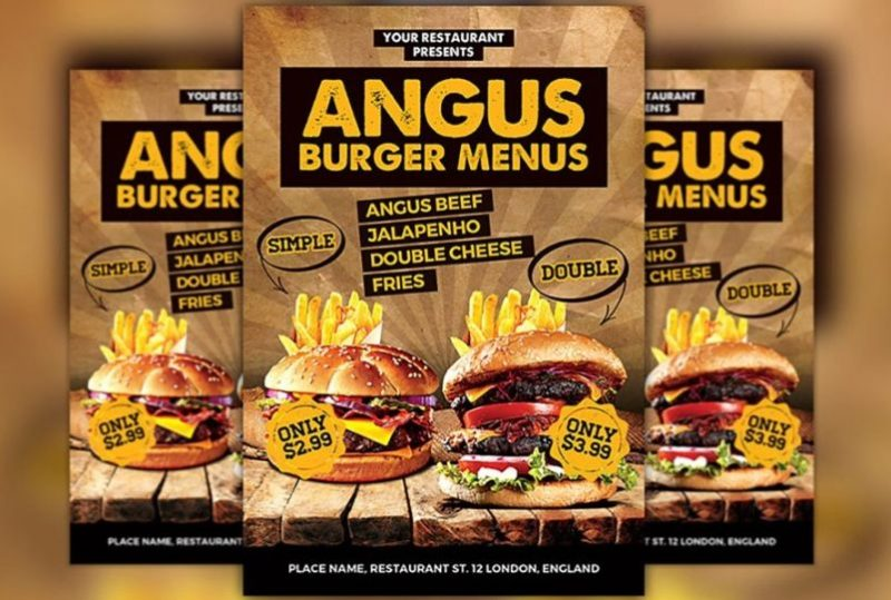 Burger Sales Flyer Template