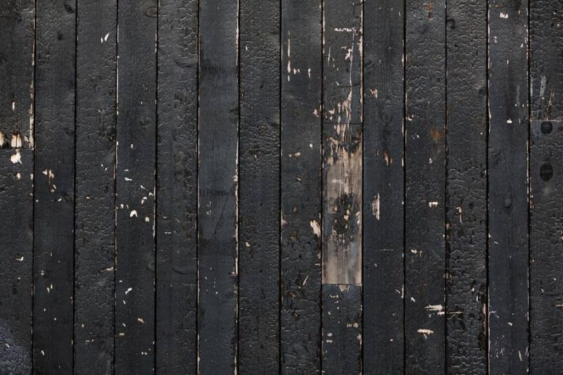 Burnt Wooden Wall Background