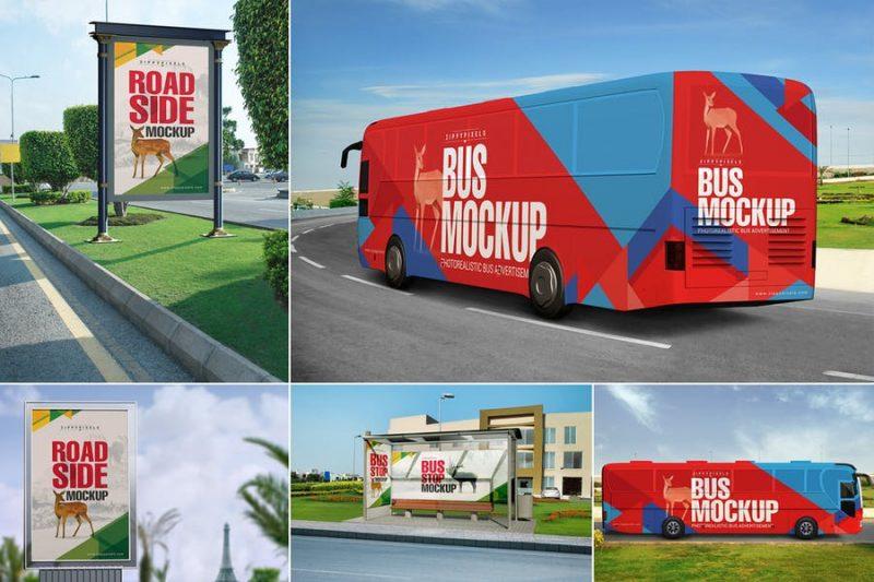 Bus Advert Mockup PSD
