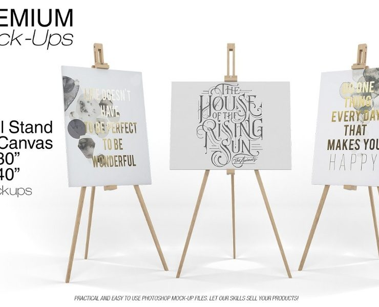 15+ Easel Stand Mockup PSD Download for Branding