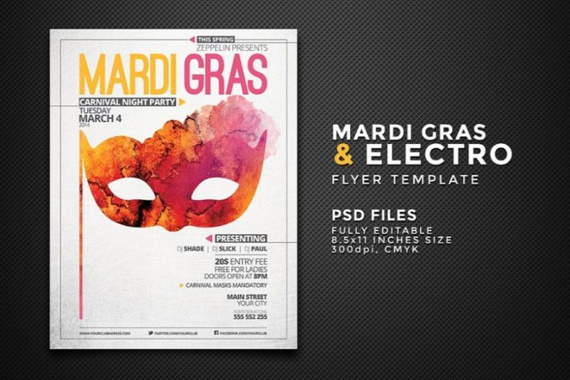 Carnival Flyers Template PSD