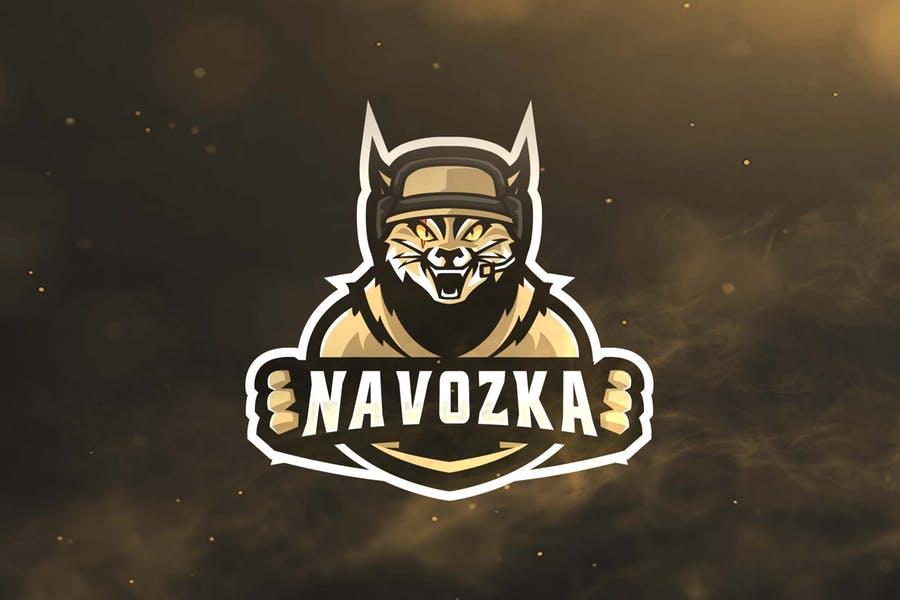 Cat Logo for Sports Team
